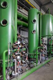 Vue intérieure de l'usine Ascoval à Saint-Saulve